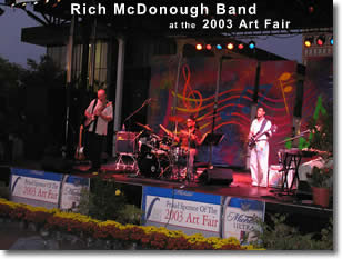 Rich McDonough Band at the 2003 Art Fair